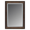 allen + roth 46-in x 36-in Copper Rectangular Framed Mirror
