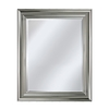 allen + roth 31.5-in x 37.5-in Chrome Rectangular Framed Mirror