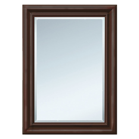 Style Selections 29.5-in x 35.5-in Espresso Rectangular Framed Mirror