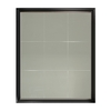 allen + roth Black and Silver Rectangle Framed Wall Mirror