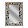 allen + roth 24-in x 34-in Gray/Browns Polished Rectangle Framed French Wall Mirror