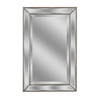 allen + roth 20-in x 32-in Silver Beveled Rectangle Framed French Wall Mirror