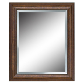 allen + roth 27-in x 33-in Bronze Beveled Rectangle Framed French Wall Mirror