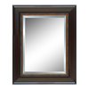 Style Selections 32-in x 44-in Cherry Rectangular Framed Mirror