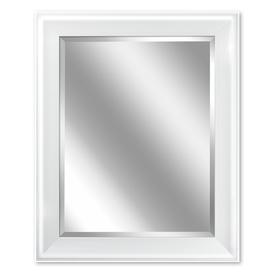 shop allen roth 24 in w x 30 in h white rectangular