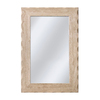 allen + roth 24-in x 36-in Travertine Rectangle Framed Mirror