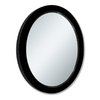 allen + roth 24-in x 30-in Black Oval Framed Wall Mirror