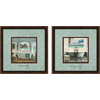12-in W x 12-in H Bath Framed Wall Art