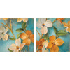  12-in W x 12-in H Floral Canvas Wall Art