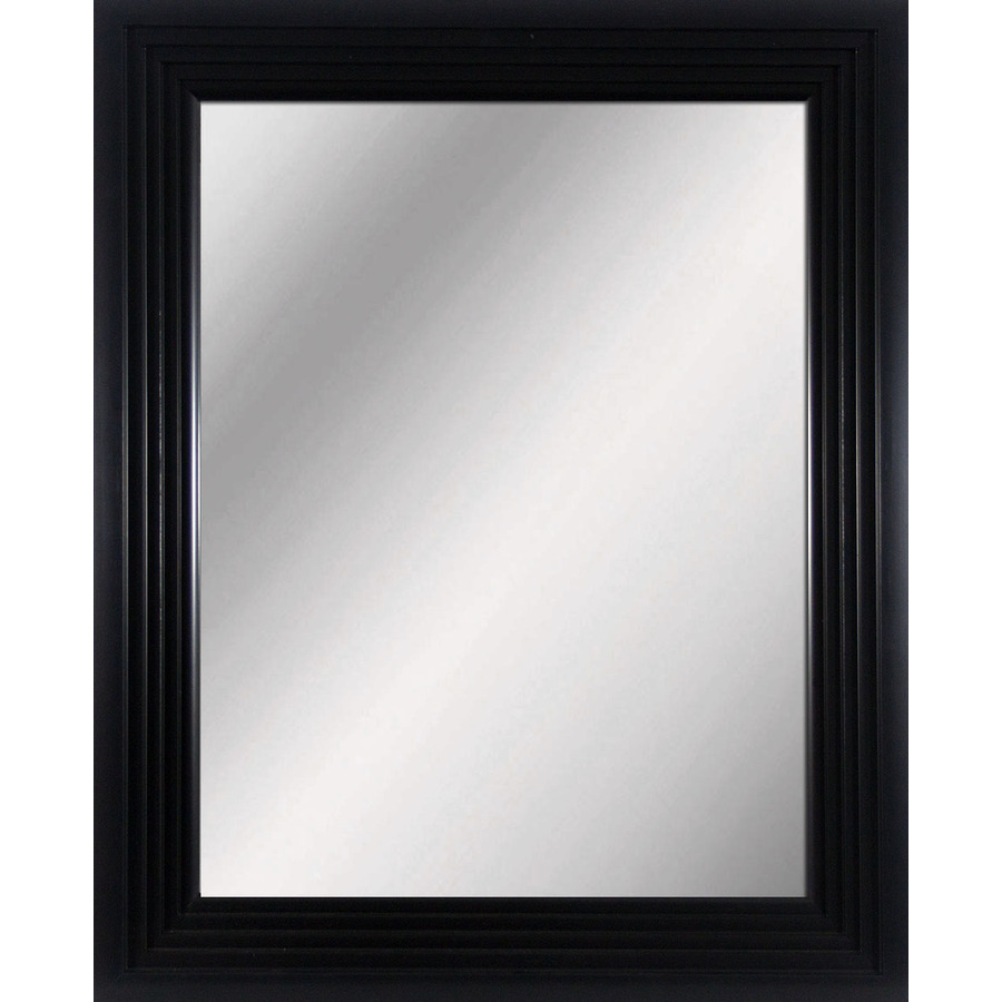 Large mirror black frame