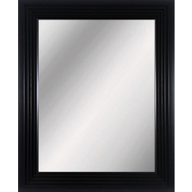 allen + roth Black Rectangle Framed Wall Mirror