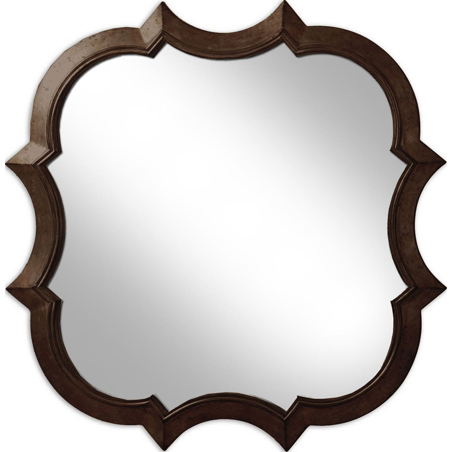 Shop 30 in x 30 in oil rubbed bronze round framed wall for Bronze mirror