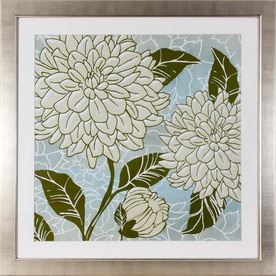 30-in W x 30-in H Floral Framed Art