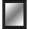 28-in x 34-in Black Rectangle Framed Wall Mirror