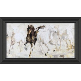 28.5-in W x 16.5-in H Animals Framed Art