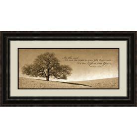 28.5-in W x 16.5-in H Inspirational Framed Art