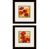 2-Piece 12-in W x 12-in H Floral Framed Art