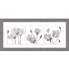 26-in W x 12-in H Framed Plastic Floral Print Wall Art