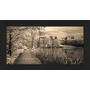 28.5-in W x 16.5-in H Framed Plastic Landscapes Print Wall Art