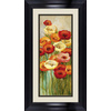 16.5-in W x 28.5-in H Framed Plastic Floral Print Wall Art