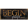 37-in W x 14-in H Frameless Wood Inspirational Print Wall Art
