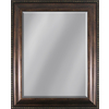 Style Selections 35-in x 29-in Dark Oak Rectangular Framed Mirror