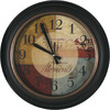 allen + roth 12-in Remembrance Clock Black Clock