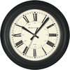 allen + roth 12-in Cafe Clock Black Clock