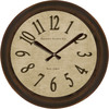 allen + roth 18-in Parchment Clock Oil Rubbed Bronze Clock
