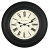 allen + roth 30-in Essex Clock Black Clock