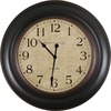 allen + roth 30-in Vienna Brown Clock