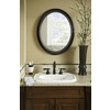 allen + roth Oil Rubbed Bronze Oval Framed Wall Mirror