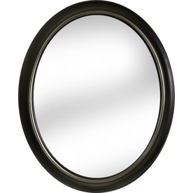 Shop Allen Roth Oil Rubbed Bronze Oval Framed Wall Mirror At