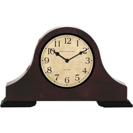 "allen + roth 12"" Dark Wood Finish Clock"