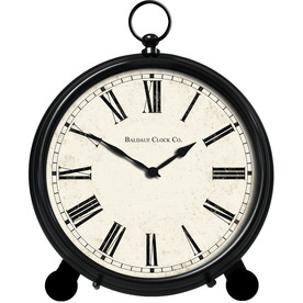 "allen + roth 12"" Black Metal Clock"