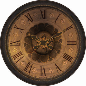 allen + roth 29&#034; Raised Numbers Oil-Rubbed Bronze Clock