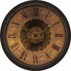 allen + roth 30-in Raised Numbers Clock Oil Rubbed Bronze Clock