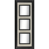 allen + roth 40-in x 16-in Black Rectangular Framed Mirror