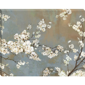 30-in W x 38-in H Floral Canvas