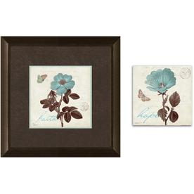 12-in W x 12-in H Floral Framed Art