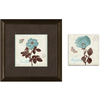 12-in W x 12-in H Floral Framed Wall Art