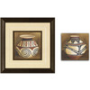 12-in W x 12-in H Pottery Framed Wall Art