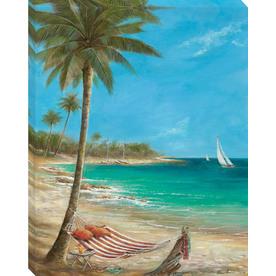 30-in W x 38-in H Beach Canvas