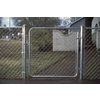 Galvanized Steel Chain-Link Fence Walk-Thru Gate (Common: 4-ft x 4-ft; Actual: 3.66-ft x 4-ft)