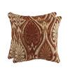 allen + roth Set of 2 Sunbrella Aura Sienna UV-Protected Square Outdoor Decorative Pillows