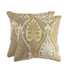 allen + roth Set of 2 Sunbrella Aura Honey UV-Protected Square Outdoor Decorative Pillows