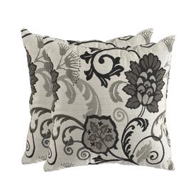 allen + roth Set of 2 Sunbrella Elegnce Smoke UV-Protected Square Outdoor Decorative Pillows
