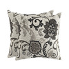 allen + roth Set of 2 Sunbrella Elegnce Smoke UV-Protected Square Outdoor Decorative Pillows