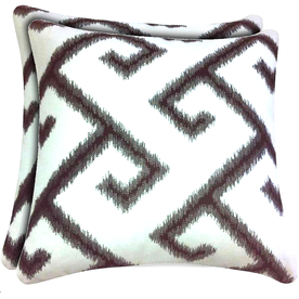 allen + roth Sunbrella 2-Pack Texture Square Throw Outdoor Decorative Pillows