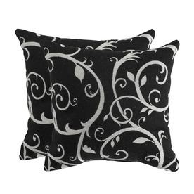 allen + roth Set of 2 Sunbrella Cabaret II Classic UV-Protected Square Outdoor Decorative Pillows
